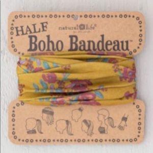 Natural Life Half Boho Headband Bandeau Pink/Gold